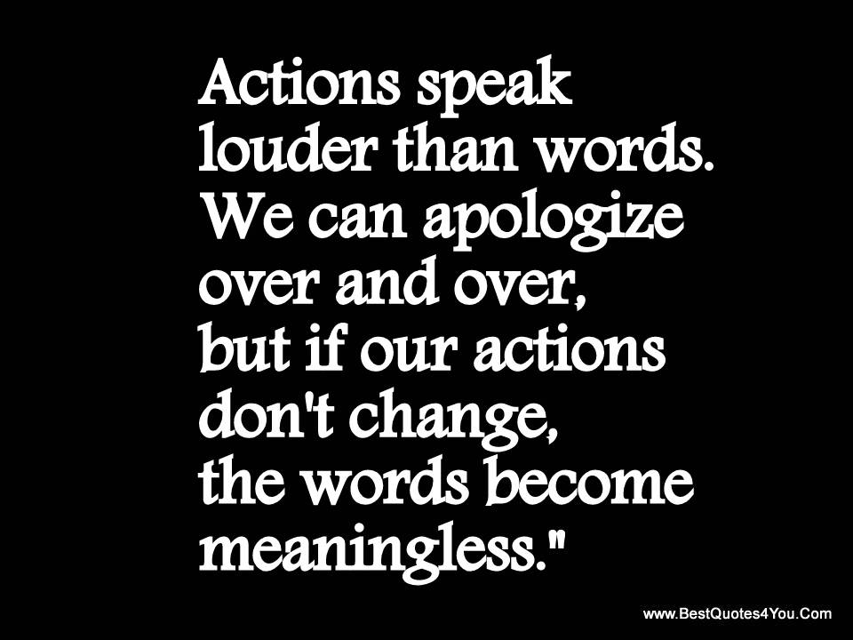 Your Words Mean Nothing When Your Actions Are Opposite The: Live Your Faith And Beliefs