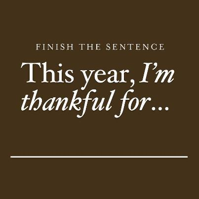 thankful fo