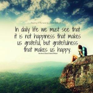 gratefulness makes us happy