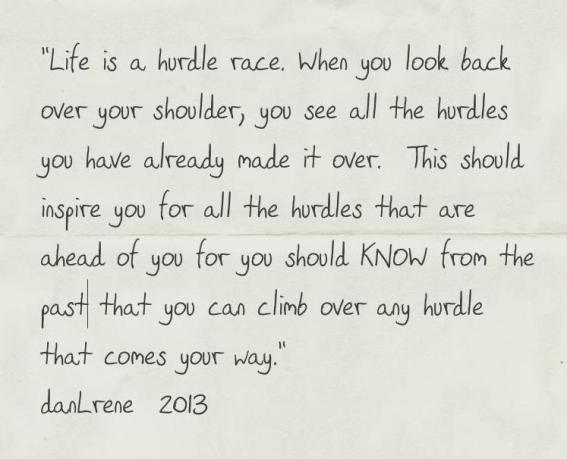 Life is a hurdle
