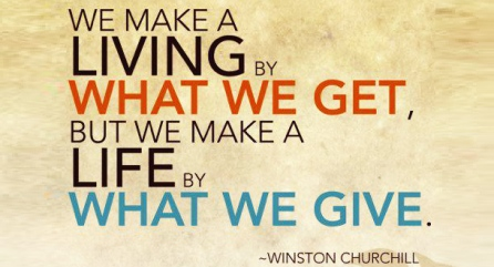 by what we give