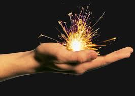 spark in hand