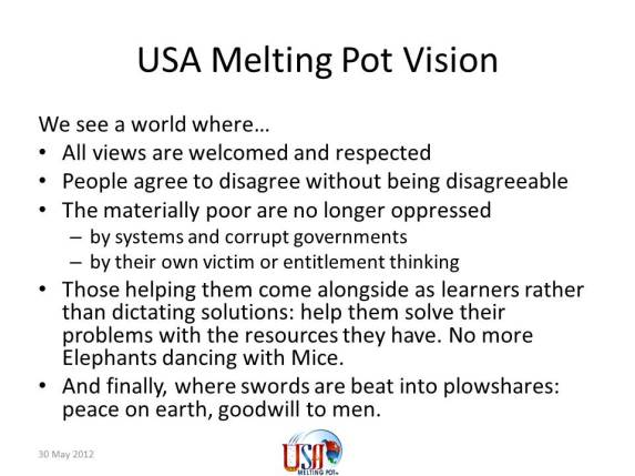 US melting pot image