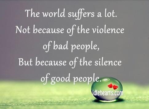 world suffers