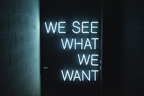 we see what we want to see