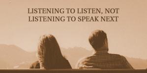 listening to listen