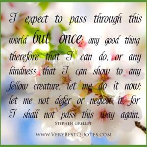 I shall pass
