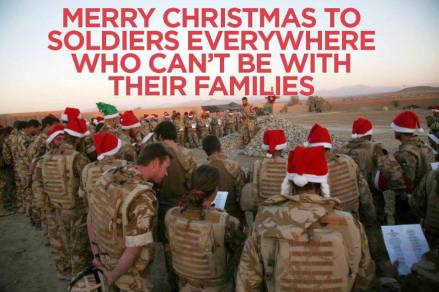 Merry Christmas to military