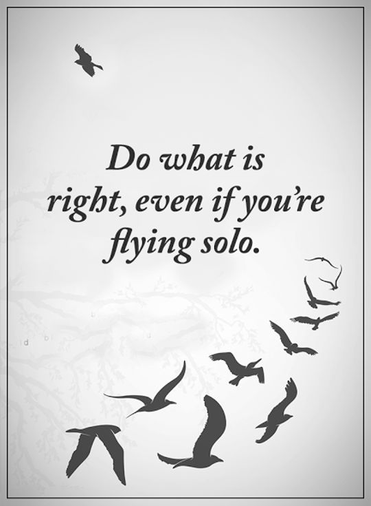 best-inspirational-quotes-aboutlife-Sayings-Do-What-Is-Right-Flying-Solo